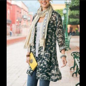 Soft Surroundings Linen Cardigan Style Jacket XL NWT
